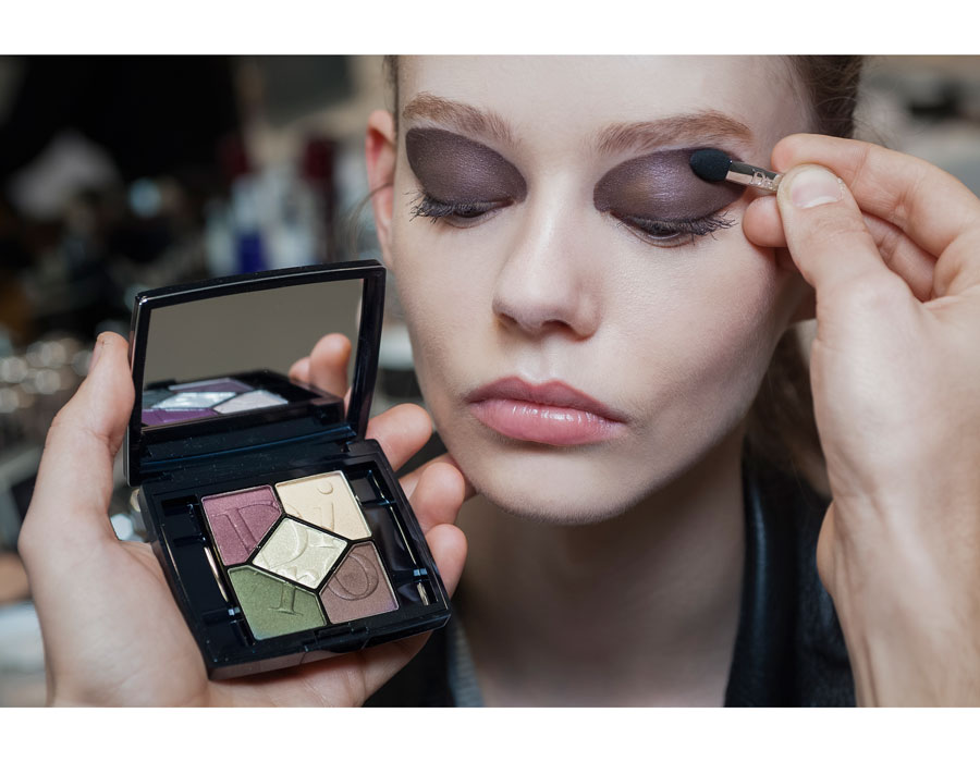 макияж осени для брюнеток: