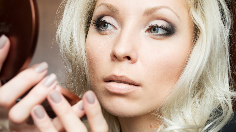 Фото макияж для блондинок с карими глазами пошагово