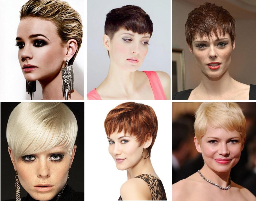 Модные стрижки 2017-2018 на короткие волосы для женщин 45