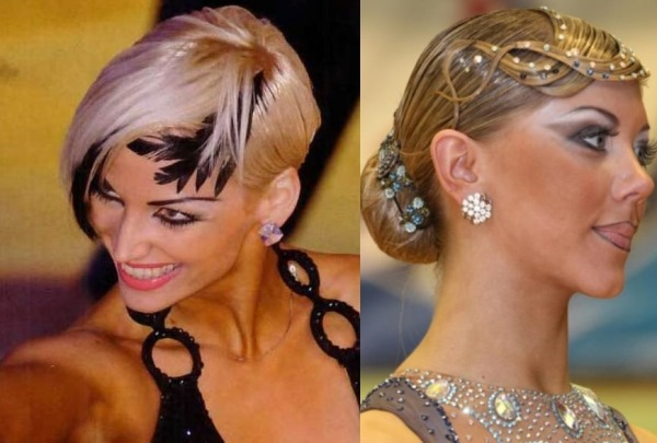 Женские причёски для бальных танцев