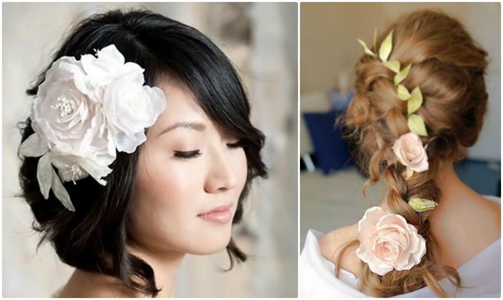 Сделать цветок в волосы своими руками