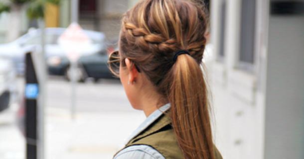 Косы на каждый день своими руками фото на средние волосы