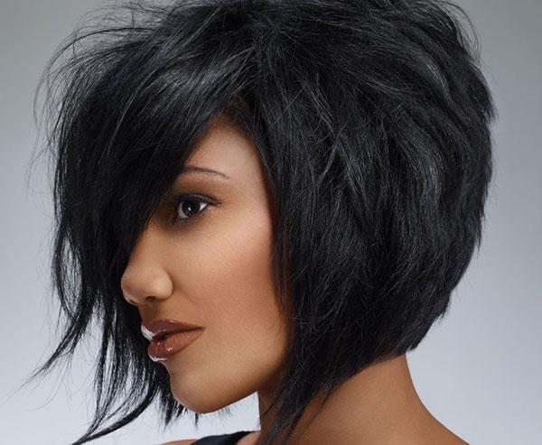 Стрижки для черных средних волос