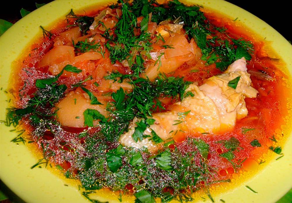 Рецепты борща с куриным мясом