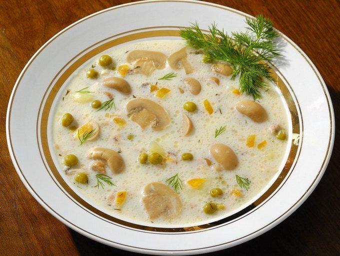 Сырный суп рецепт с шампиньонами и курицей с фото пошагово в мультиварке
