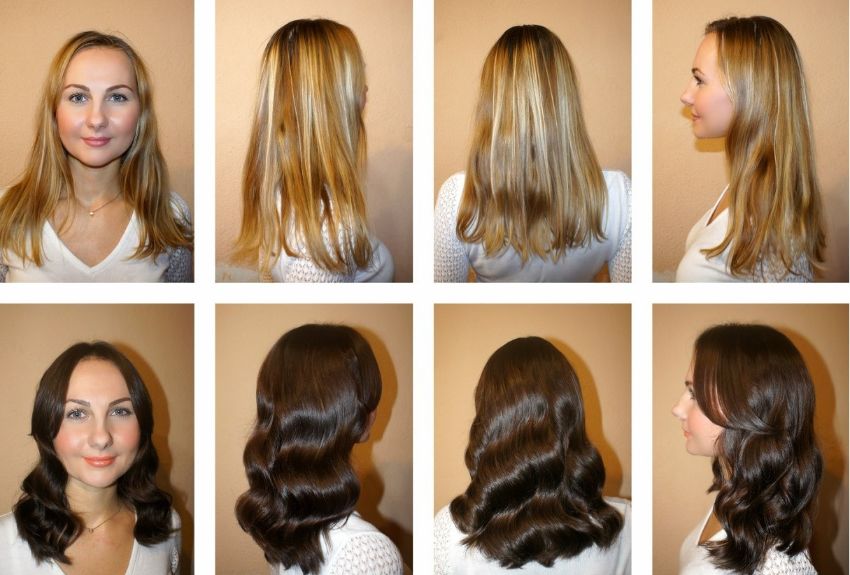 Балаяж на русые волосы в домашних условиях
