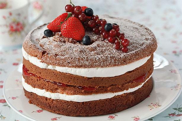 бисквитный торт с кремом фото