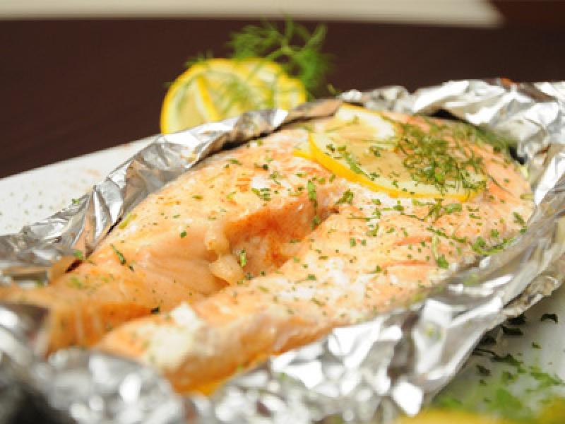 Красная рыба в фольге в духовке рецепт без лимона