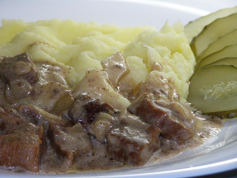 Подлива с мясом к пюре рецепт