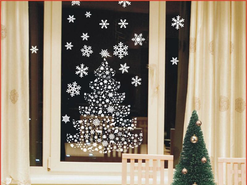 Украшения на окна к новому году своими