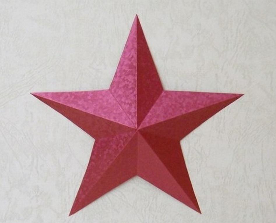 Объемные звезды к 9 мая своими руками