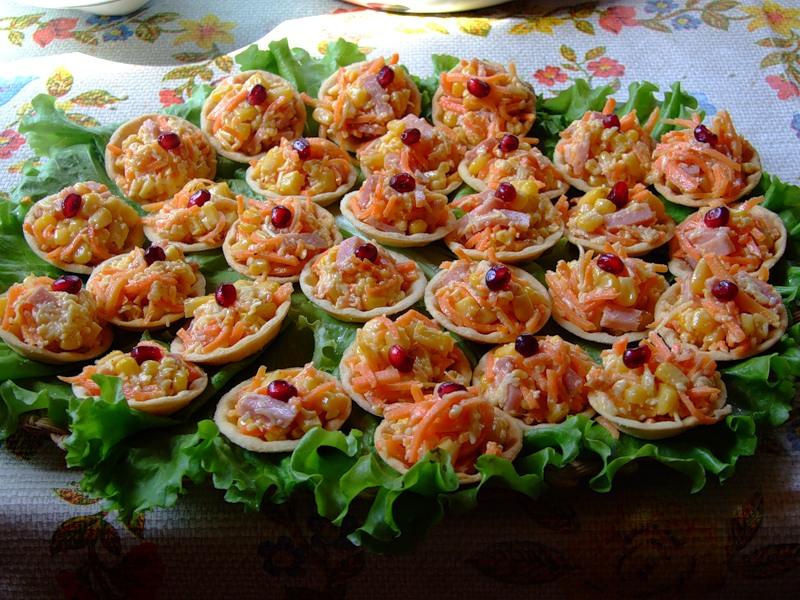 Рецепты салата для тарталеток с