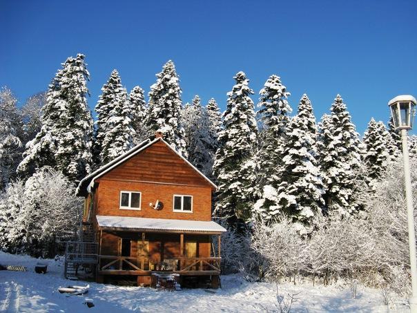 Домики в лагонаки снять на новый год