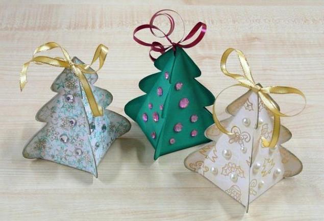 Новогодние игрушки из бумаги своими руками 2016