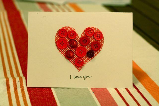 Сделать своими руками открытку на день святого валентина